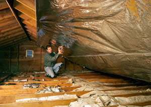 A Radiant Barrier Installed In A Dover Attic